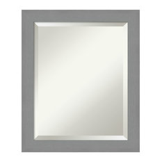 """Wall Mirror Bathroom Vanity Mirror Brushed Nickel: Outer Size 20 x 24"""""""