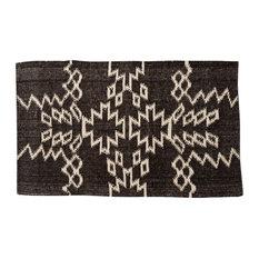 Dark Brown Wool Rug