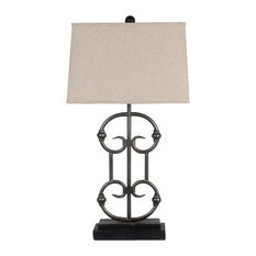 Privilege International   Iron Table Lamp, Black   Table Lamps