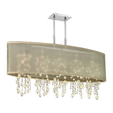 "45"" W Shaded Faux Pearl Bead Chandelier
