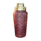 Pink Glass Boudoir Cocktail Shaker
