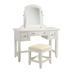 Home Styles Naples White Vanity and Bench
