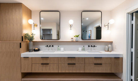 Room Tour: A Streamlined Bathroom With a Soothing Spa Feel