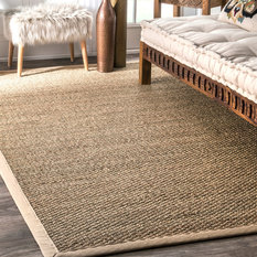 nuLOOM - Machine Woven Blair Rug, Beige, 5'x8' - Area Rugs