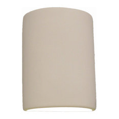 Eloise Half Cylinder Outdoor Wall Light, Bisque Gray, Closed Top