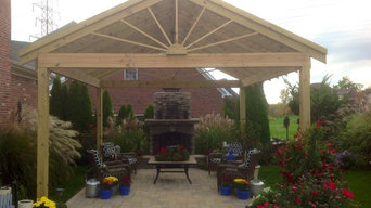 Fireplace, Patio and Pergola