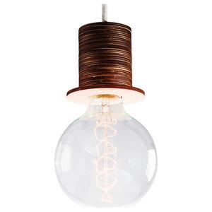 Fafoo Pendant Lamp, Dark Brown and Beige