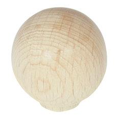 "1 1/4"" Au Natural Wood Round Knob"