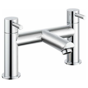 Bath Filler Mixer Tap in Solid Brass With Chrome Plated Finish, Modern Style