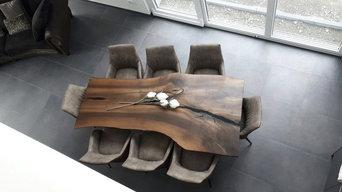 Tisch Nussbaum geräuchrt