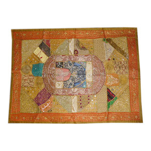 Mogul Interior - Consigned Home Decor Tapestries Hippie Sari Patch Wall Hanging - Tapestries