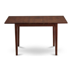 """Norfolk Rectangular Table With 12"""" Butterfly Leaf, Mahogany Finish"""