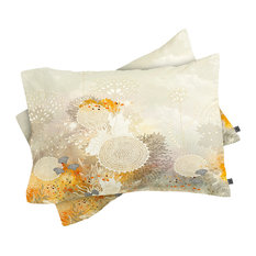 Deny Designs Iveta Abolina White Velvet Pillow Shams, King