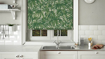 Green Palm roller blinds