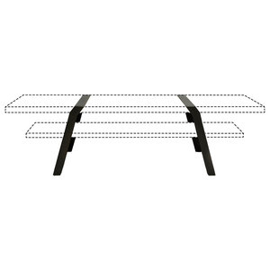 Steel Coffee Table Trestle Supports, Black