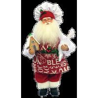 "15"" Gingerbread House Santa"
