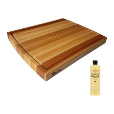 HomeProShop Maple Cutting Board With Juice Groove and 16 Oz. John Boos Oil