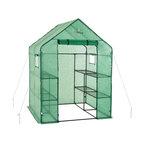 Walkin 2-Tier 8-Shelf Portable Lawn, Garden Greenhouse, Heavy Duty Anchor