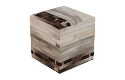 Animal Inspirations Surya Poufs Pouf/Ottoman, Neutral, Gray, Square 18""