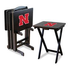 University of Nebraska TV Trays With Stand, Set of 4