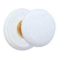 Emtek   Emtek Ice White Knob With Porcelain Rosette   Doorknobs