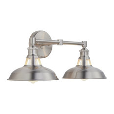 Olivera 2-Light Wall Sconce, Brushed Nickel