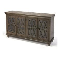 Butler Transitional Lansing Rectangular Cabinet With Dark Brown Finish 9300403