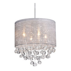 Glass and Crystal Pendant Lighting Modern Chandelier for Kitchen
