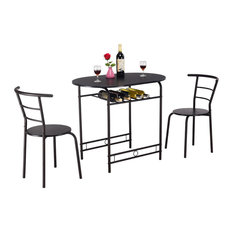 Costway 3 PCS Dining Set Table and 2 Chairs Home Kitchen Breakfast Bistro Pub