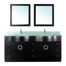 "72"" Double Sink Bathroom Vanity"