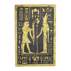 Pharaoh Seti Offering To Mut Plaque