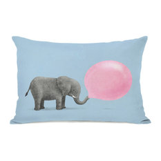 """Jumbo Bubble Gum"" Indoor Throw Pillow by Terry Fan, 14""x20"""