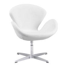 Zuo Modern Pori Arm Chair, White
