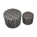 Alight Round Ottoman Contemporary Footstools And