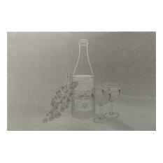 """Wine Stainless Steel Kitchen Backsplash, 24""""x36"""""""