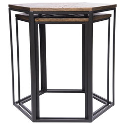 Industrial Side Tables And End Tables by Houzz