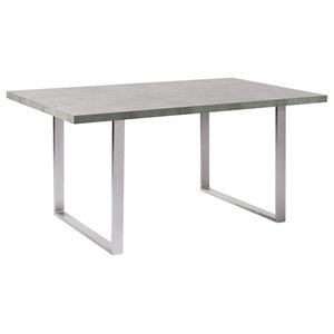 Benedict Dining Table With Cement Gray Top