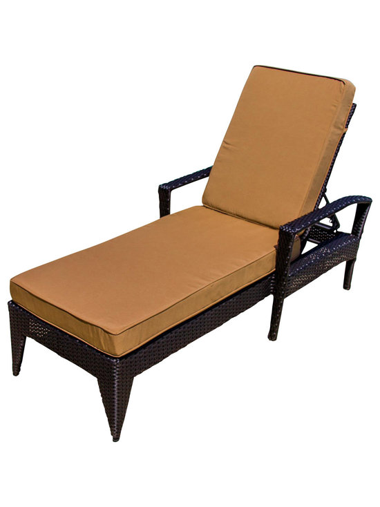 Exceptional Lakeview Outdoor Designs   Providence Resin Wicker Patio Chaise Lounge With  Arms   Outdoor Chaise Lounges