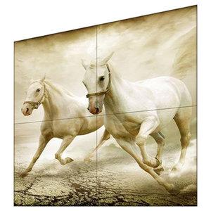 Animali Cavalli Brown 4-Piece Modern Wall Art Canvas, 160x160 cm
