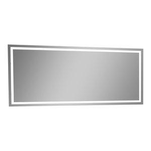 "IB MIRROR Dimmable Lighted Bathroom Mirror Harmony 60""x28"", 6000 K"
