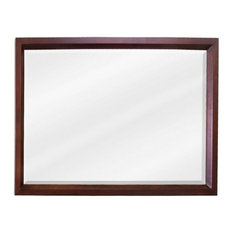 Jeffrey Alexander   Jeffrey Alexander MIR067 D Mahogany Collection  Rectangular 42 X 28 Inch Bathroom