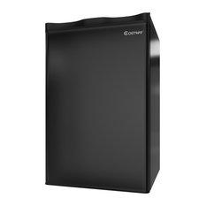 Costway 3.2 Cu.Ft. Compact Refrigerator Mini Dorm Small Fridge Reversible Door