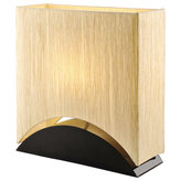 """ARTIVA USA - Sakura 17"""" Space-Efficient Premium Shade Table Lamp With Black Lacquer Wood Base - Sakura Table Lamp features a gold finish. This table lamp is space-efficient; put it anywhere in your house/office. The Balanced Design and the Elegant Beauty of the lamp will definitely be the spot light in your house."""