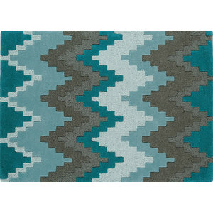 Cuzzo - Matrix MAX21 Teal Rectangle Modern Rug 160x230cm