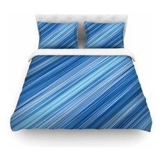 """Bruce Stanfield """"Ambient #1"""" Teal Digital King Featherweight Duvet Cover"""