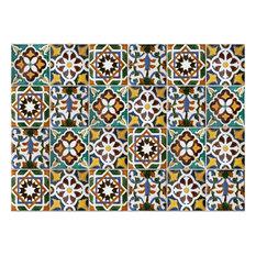 Green Tiles Kitchen Panel