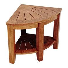 welland industries llc 2tier teak corner shower bench with storage shelf 155