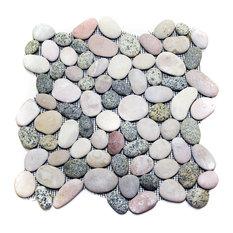 "12""x12"" Lombok Pebble Stone Tile Sheet"