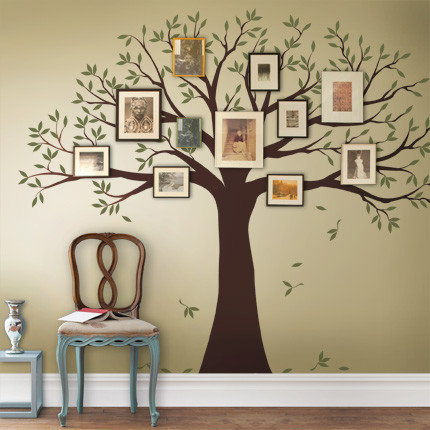 Family Tree Wall Decal - Photo Wall Gallery