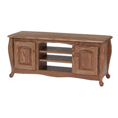 Queen Anne Solid Oak TV Stand Hickory